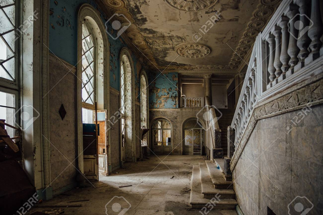 Inside Of Old Creepy Abandoned Mansion Stock Photo Picture And Royalty Free Image Image 114418289