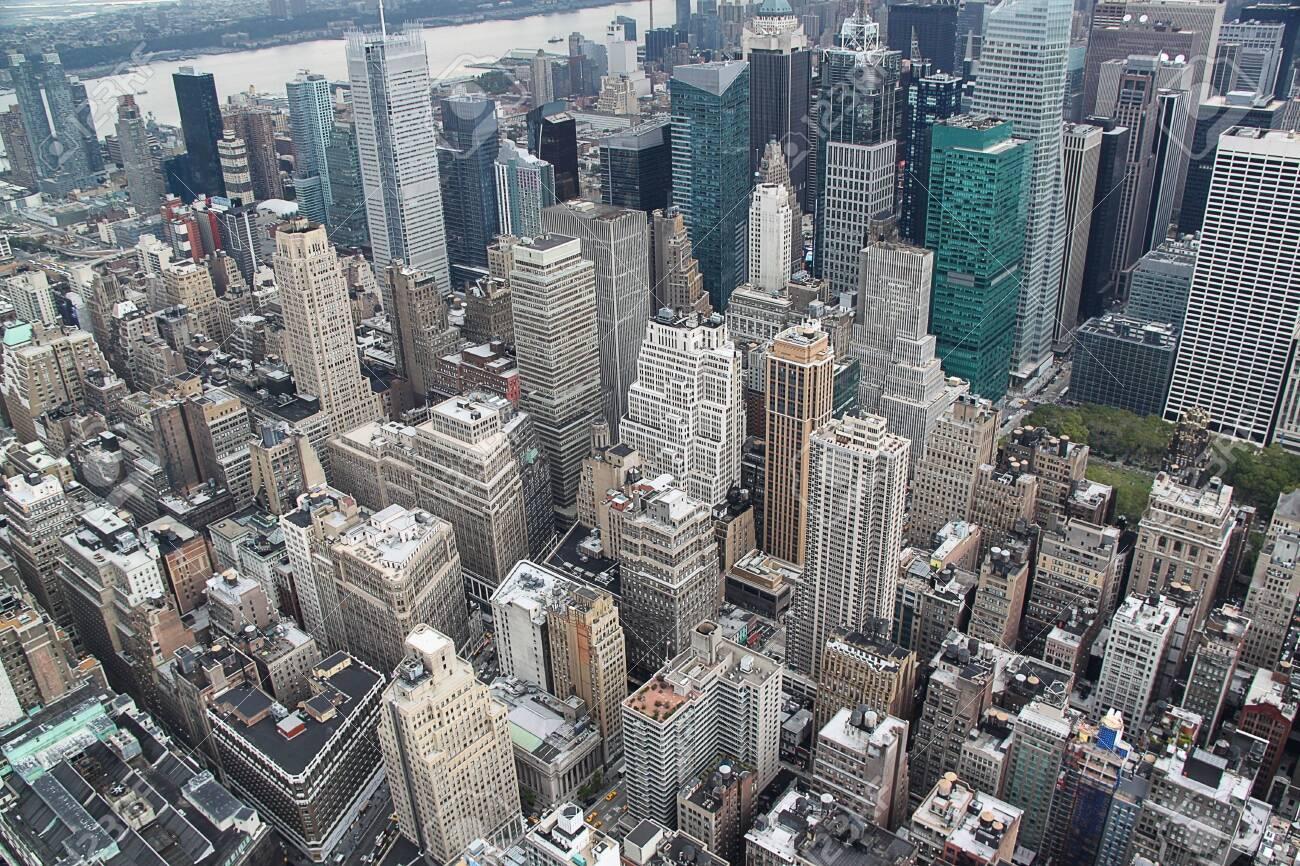 Ariel view on Manhattan.New York.USA.Beautiful background. - 123672328