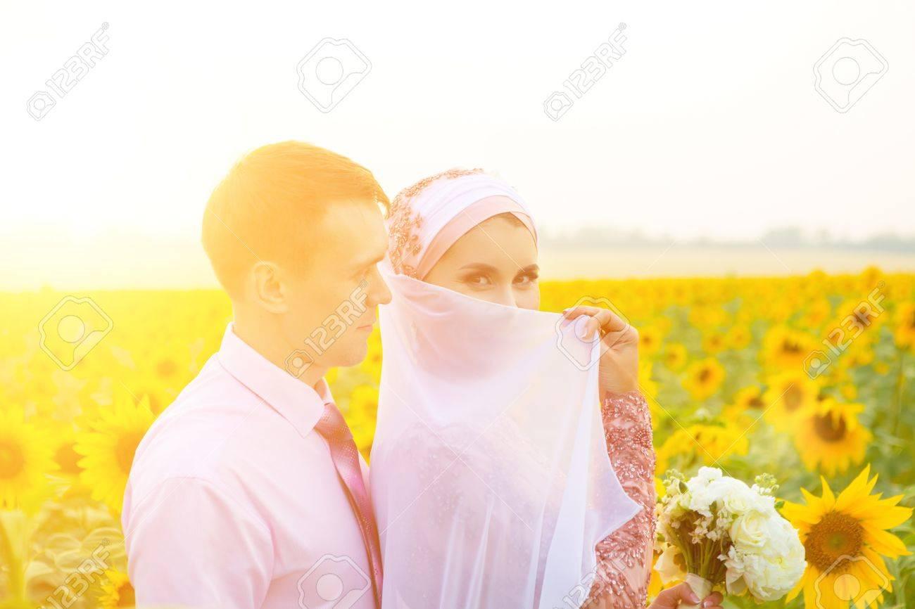 Islamic wedding ceremony  Wedding couple  Muslim marriage