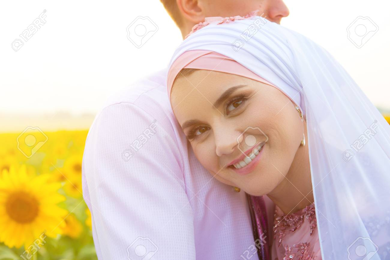 Bride and groom at a islamic wedding ceremony muslim marriage bride and groom at a islamic wedding ceremony muslim marriage stock photo 76683236 junglespirit Gallery
