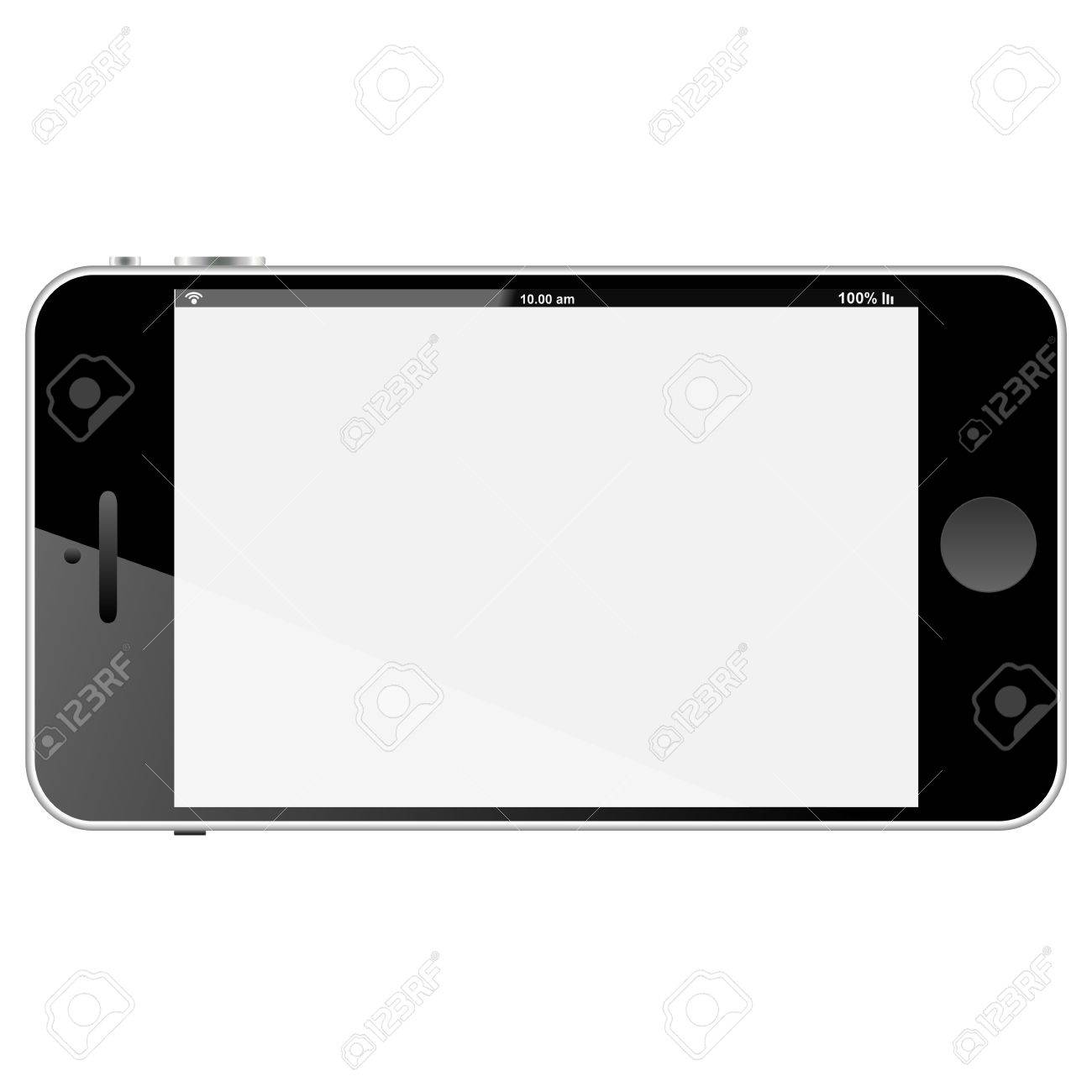 Brand New SMARTPHONE 5 Horizontal - Black Frame Stock Photo, Picture ...