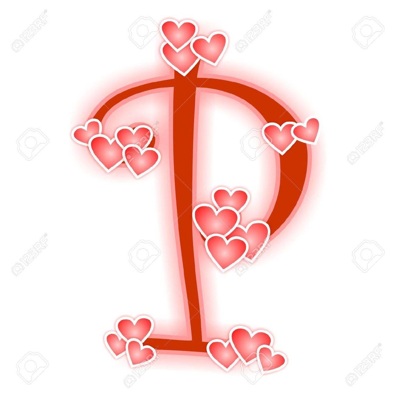 Love Letter Alphabet P Stock Photo