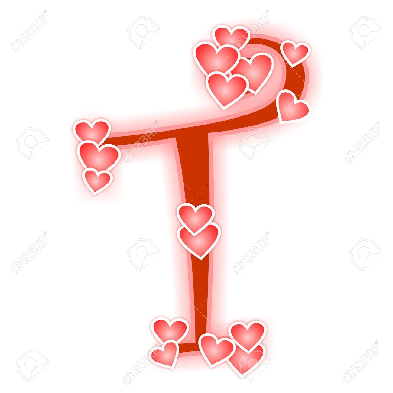 Love Letter, Alphabet T Stock Photo, Picture And Royalty Free