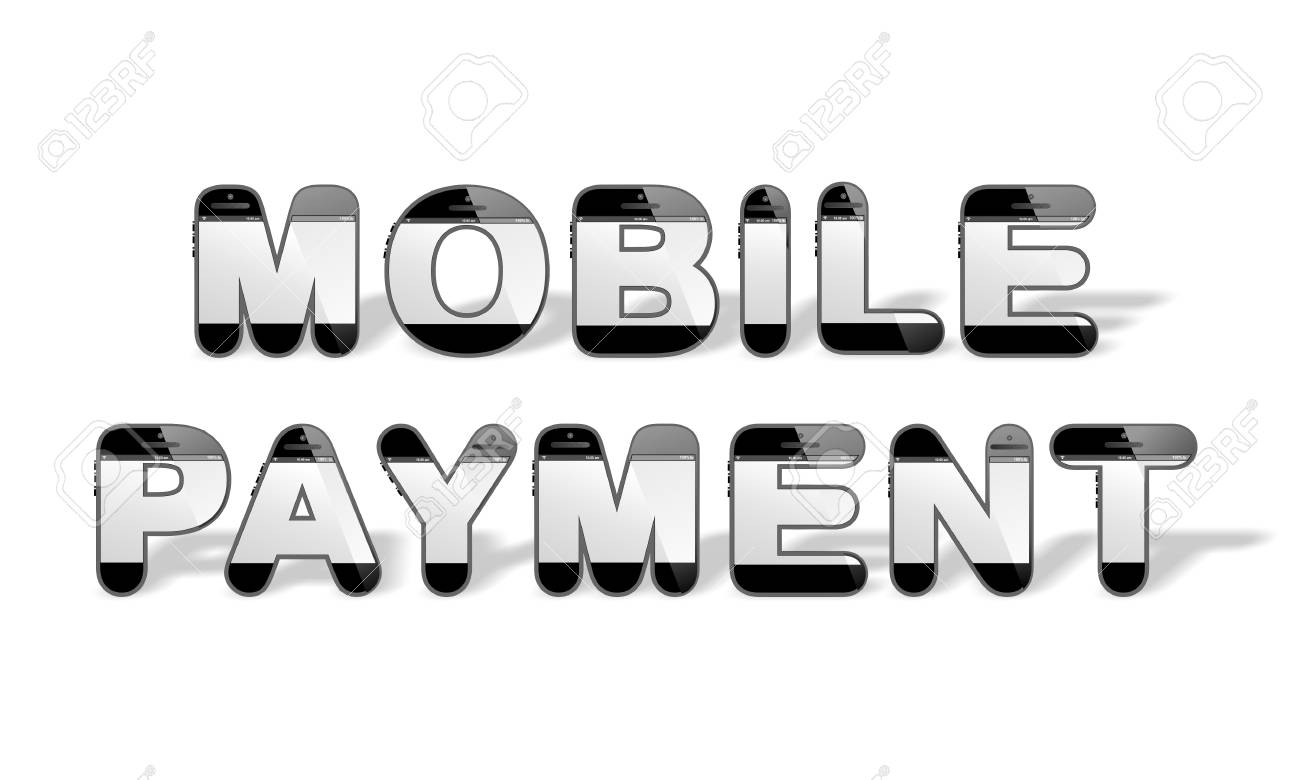 The Word Mobile Payment In Smart Design With Smartphone Or Mobile