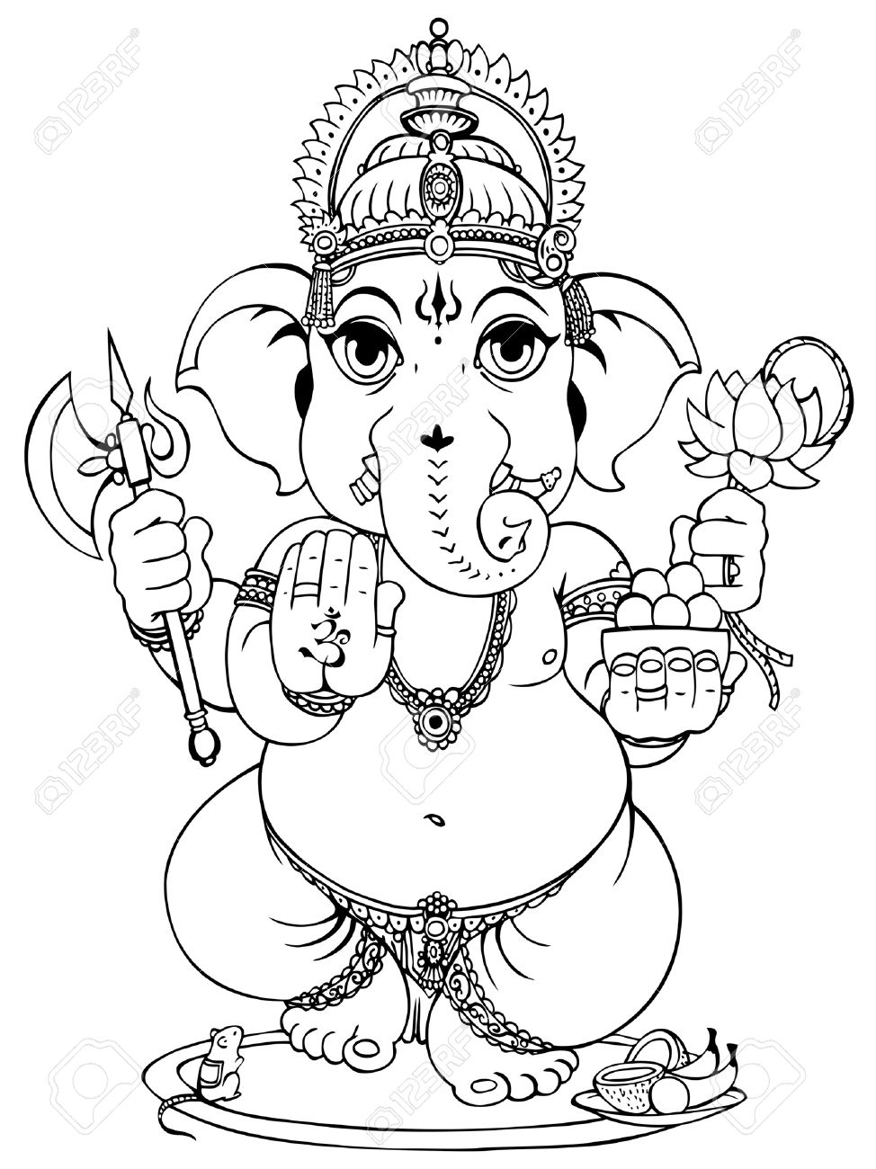 Lord Ganesha of Hindus God. Stock Vector - 12481358