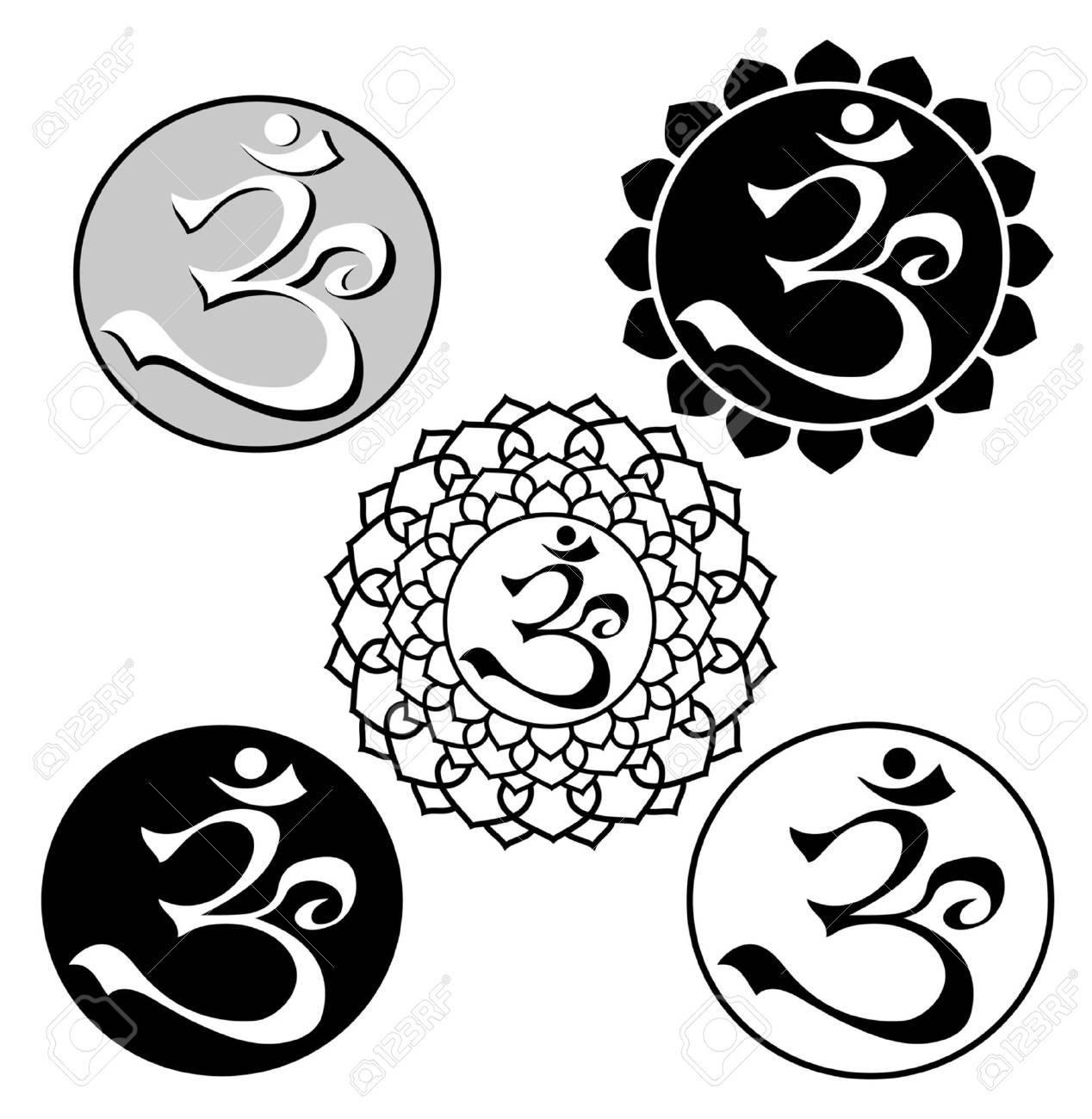 image of aum symbol Stock Vector - 15809669