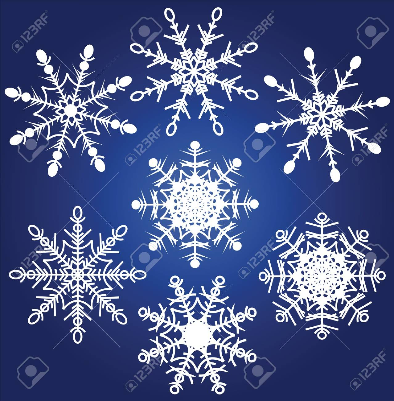 illustration set of beautiful various snowflakes Stock Vector - 16146409