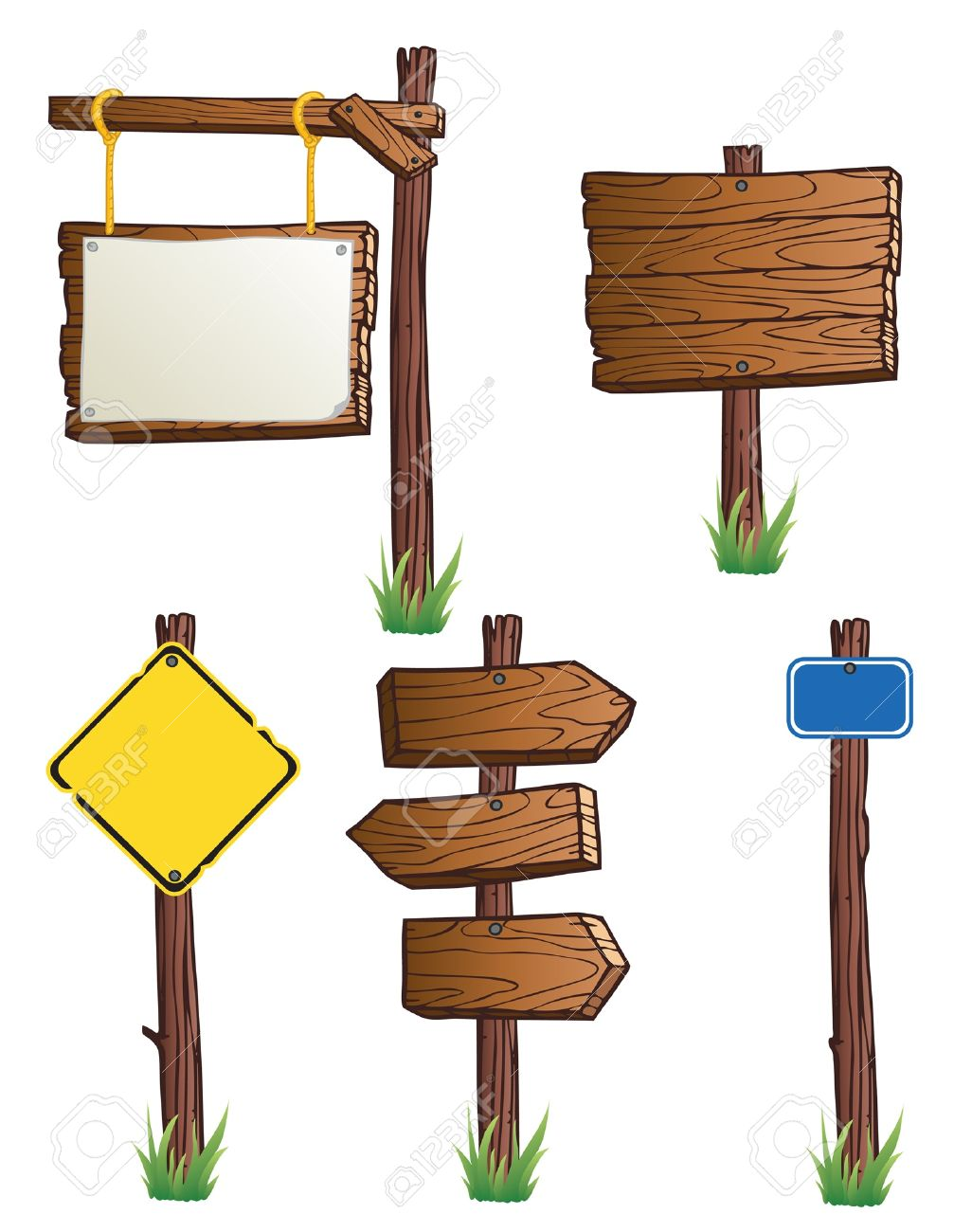 set of wooden road signs royalty free cliparts vectors and stock rh 123rf com wood sign vector png wood signboard vector