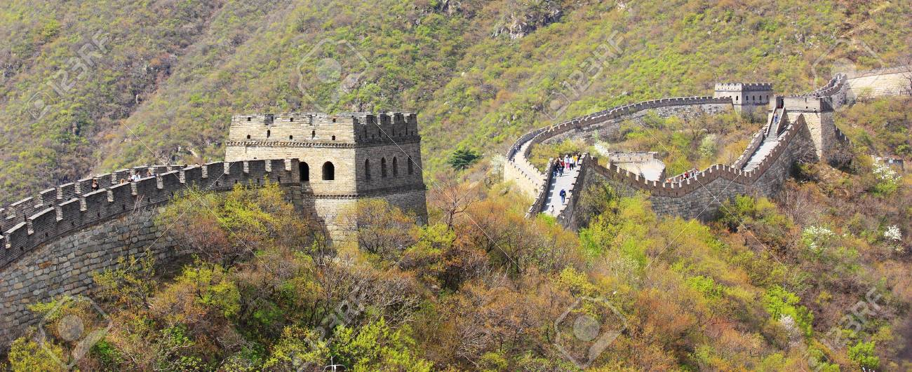 The great wall of China, with a beautiful mountain. Stock Photo - 10696180