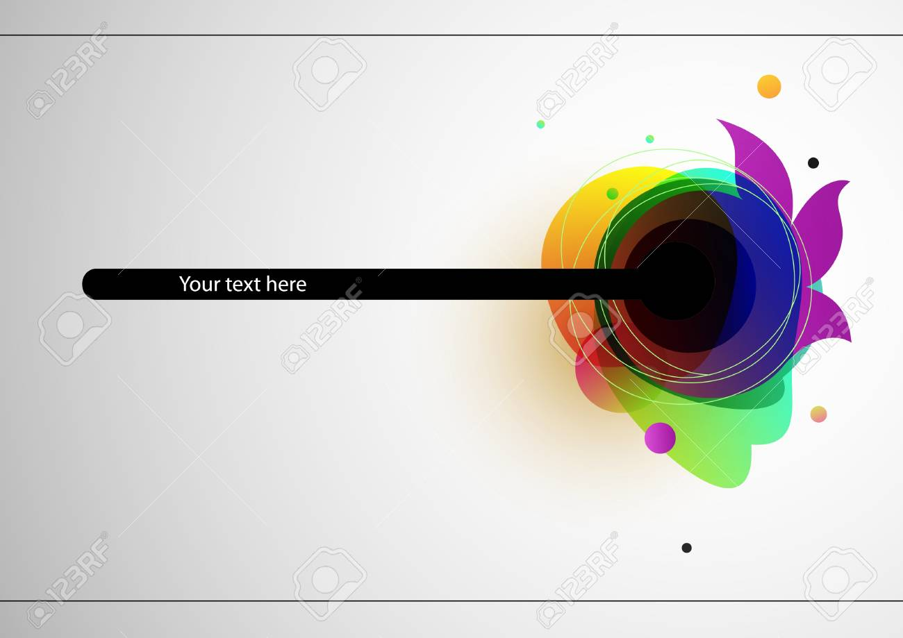 Abstract colorful modern background on white Stock Vector - 13758396