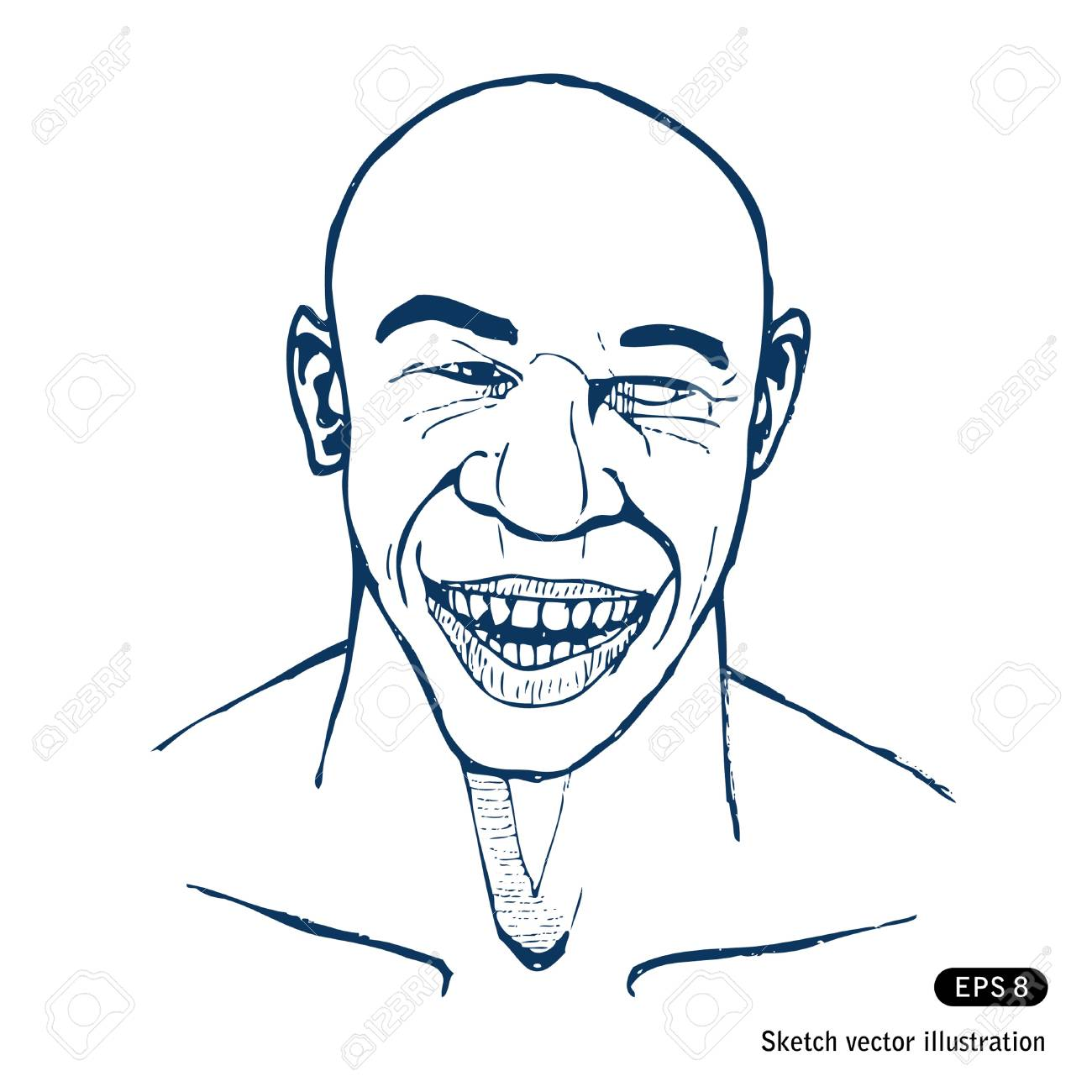 Smiling man. Stock Vector - 14957035