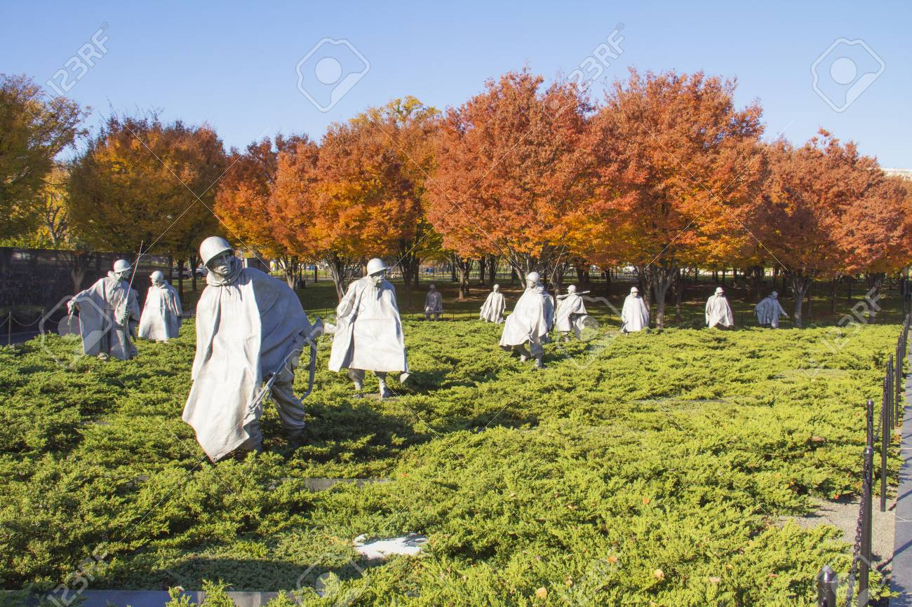 Korean War Memorial at Washington Mall in Washington DC Stock Photo - 25655657