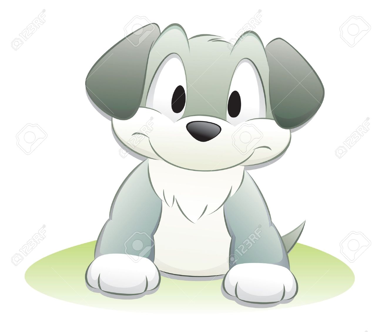 Cute cartoon dog. Isolated objects for design element. Stock Vector - 11092555