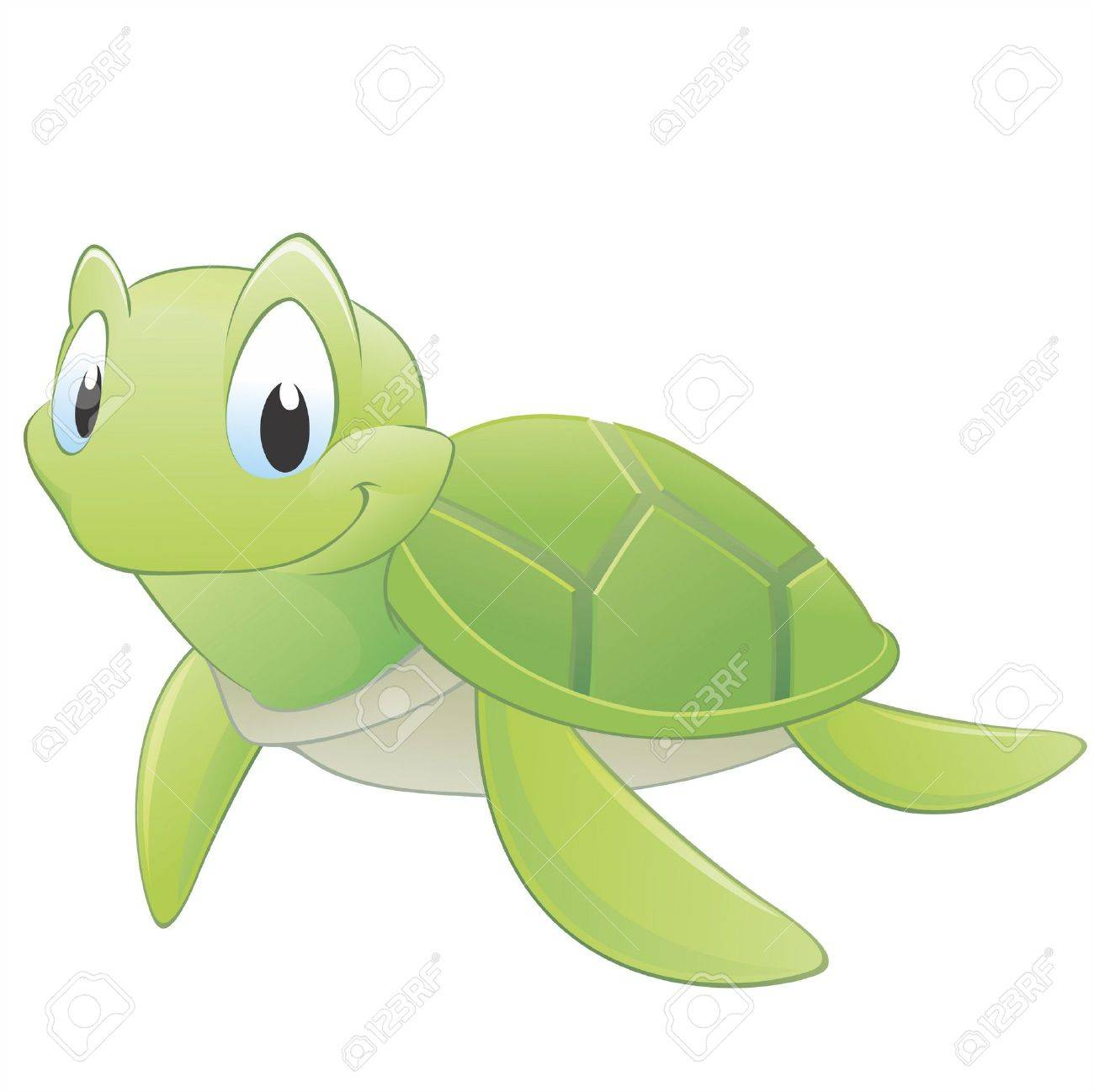 Vector illustration of a cute cartoon turtle. Grouped for easy editing Stock Vector - 12485073
