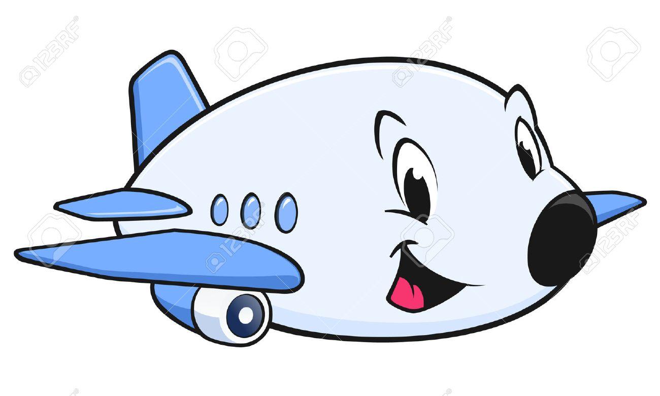 デザイン要素のかわいい漫画飛行機のベクトル イラストのイラスト素材