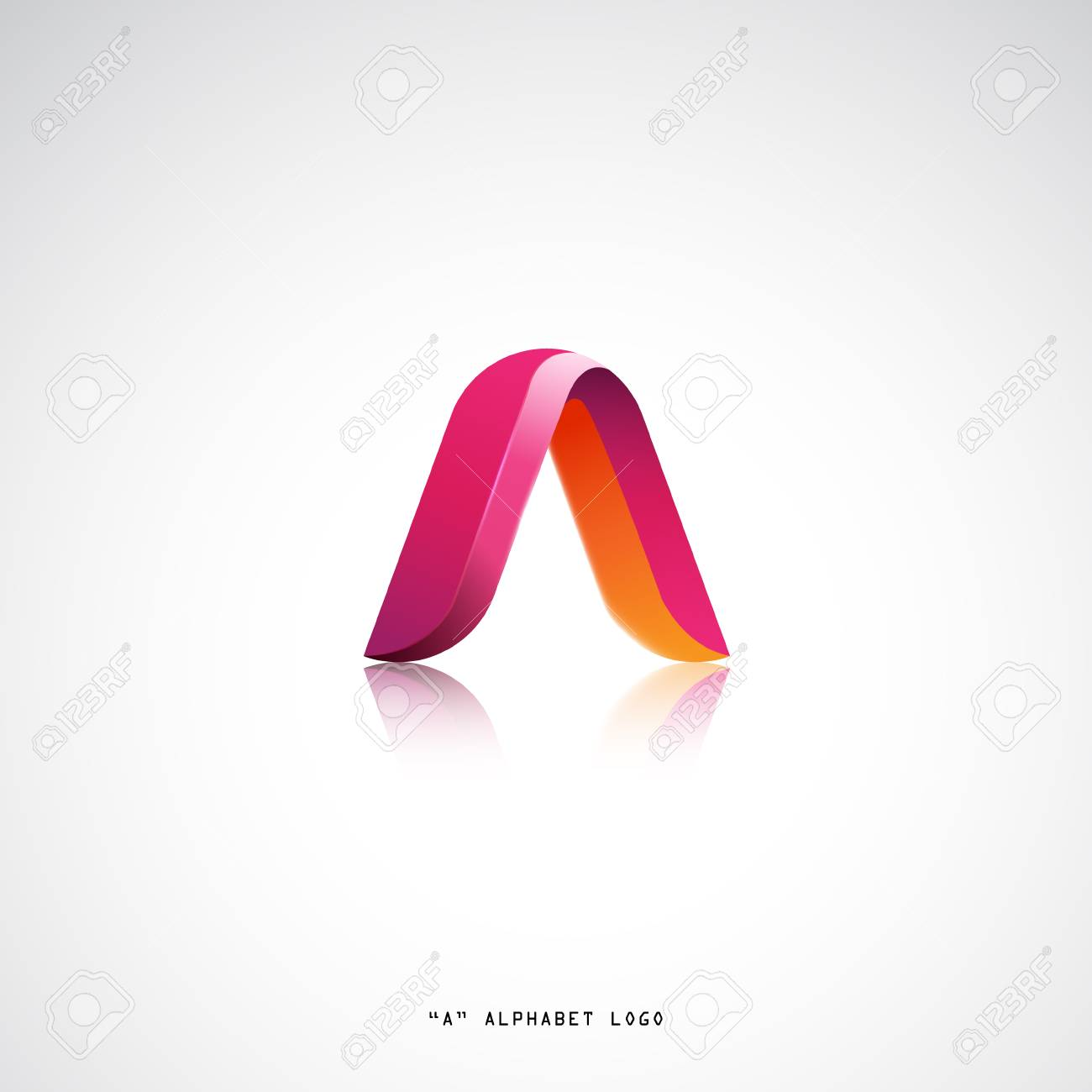 A letter alphabet business logo vector design. Modern flat style concept - 58315399