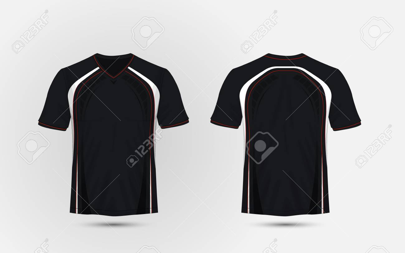 Black and white red layout sport t shirt kits jersey shirt black and white red layout sport t shirt kits jersey shirt maxwellsz