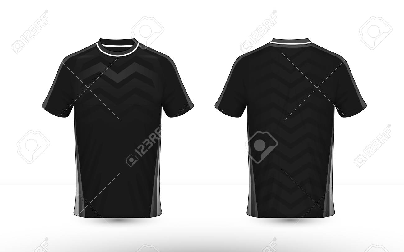 Black and white layout e-sport t-shirt design template - 120249109