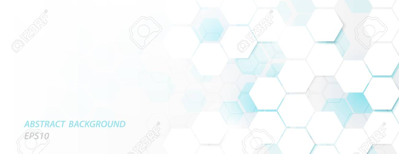 Abstract geometric future technology science concept background - 124638101