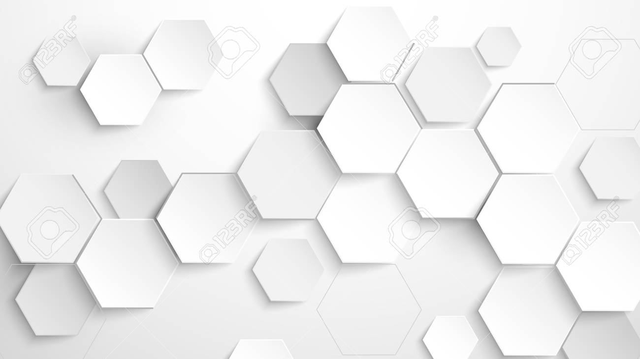 Abstract white hexagon background. Vector Illustration - 120249191