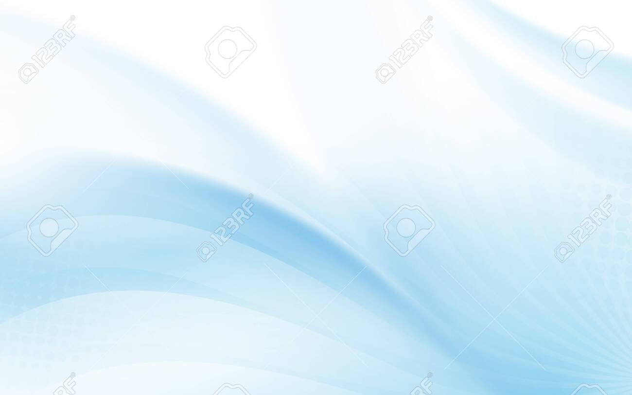 Abstract blue wavy with blurred light curved lines background - 142448524
