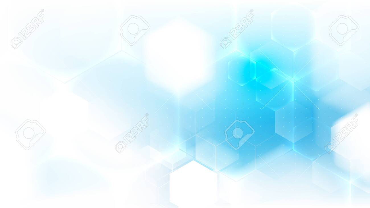 Health care and science medical innovation concept. Abstract geometric futuristic technology background - 146363102