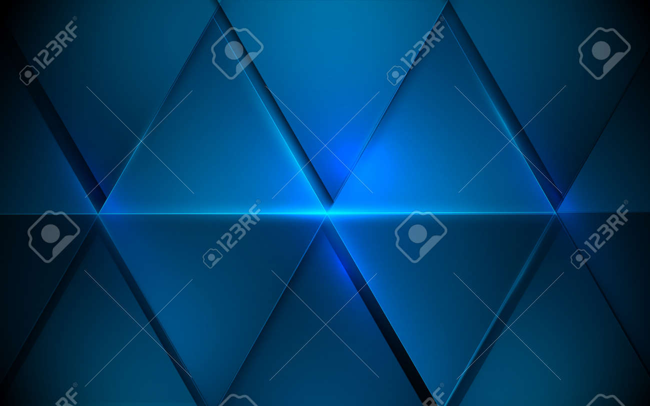 Abstract blue triangles futuristic technology digital hi-tech concept background. Vector illustration - 170005457