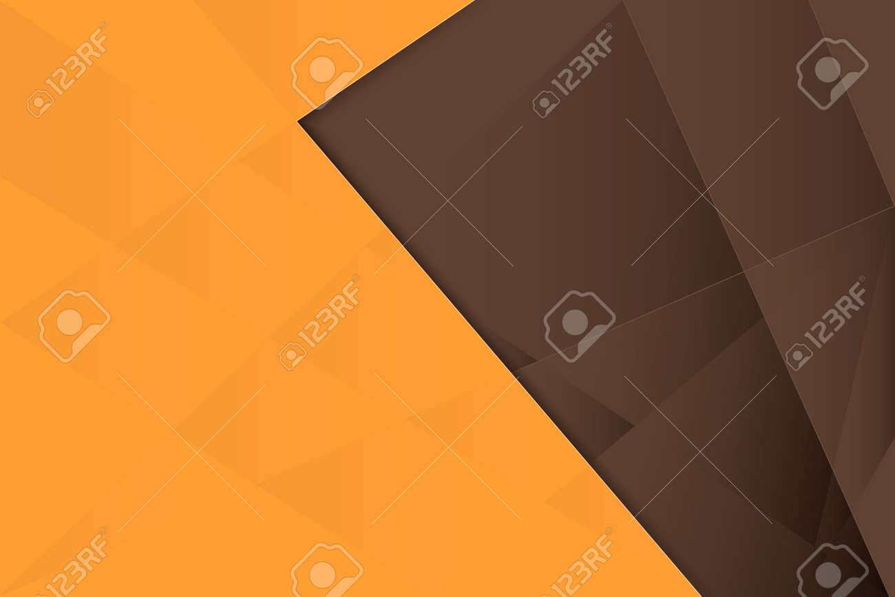 Abstract geometric repeating shape with orange and brown background. Vector illustration - 170265101
