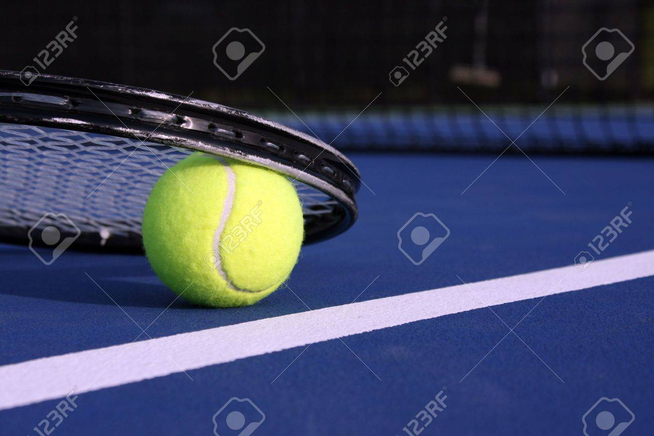 Tennis Ball and Racket Stock Photo - 4788233