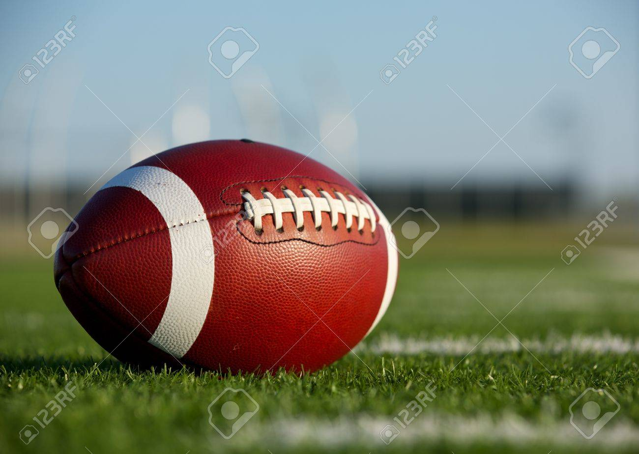 Collegiate Football on the Field with room for copy Stock Photo - 17729193
