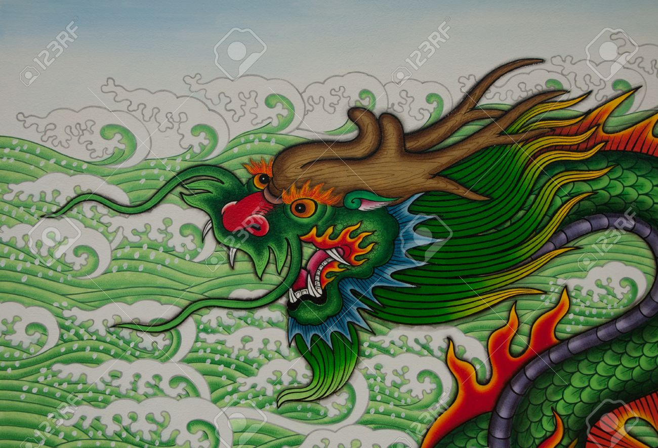 chinese dragon art paint stock photo picture and royalty free image