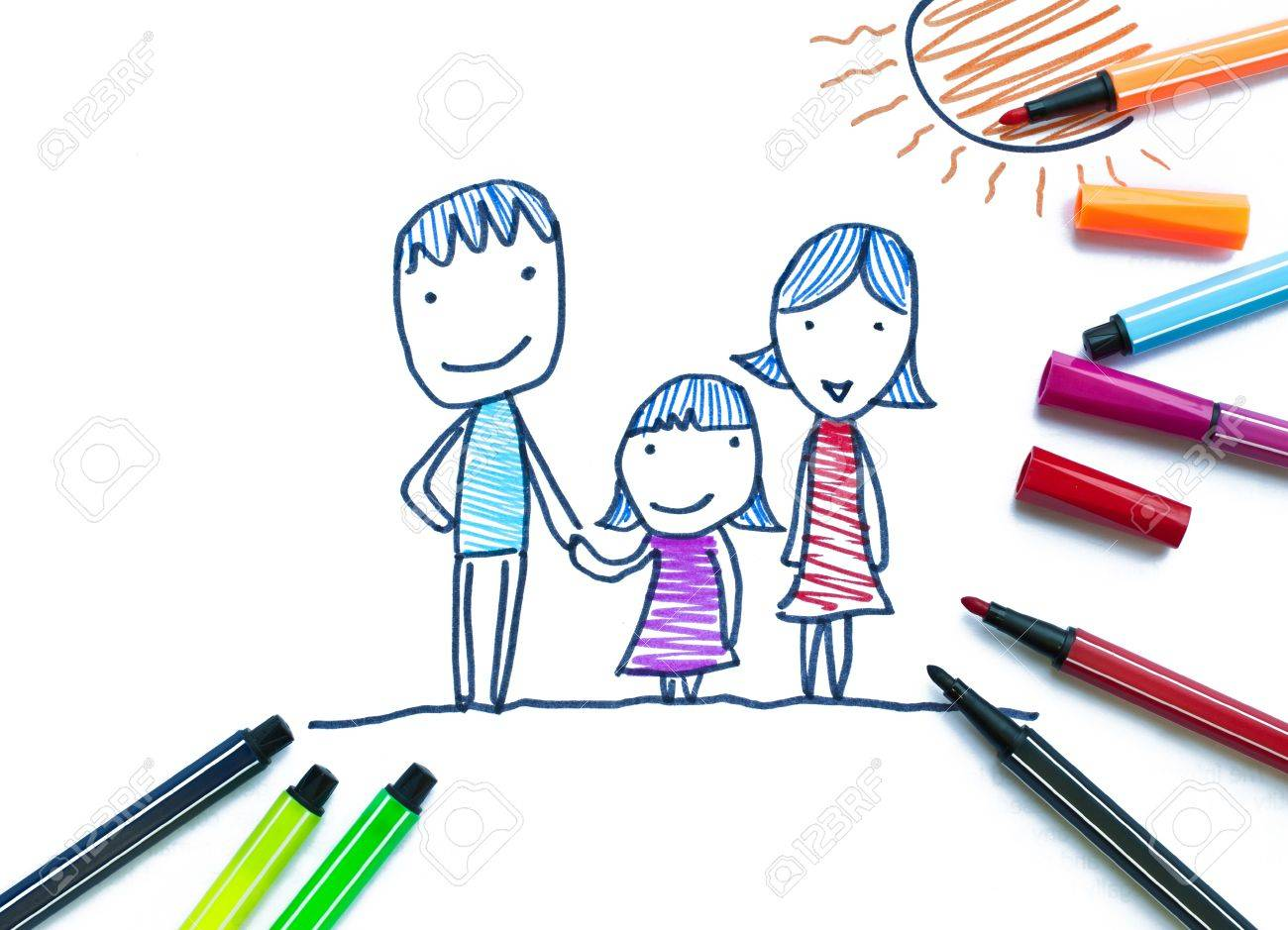 Family by color pen - 11969277