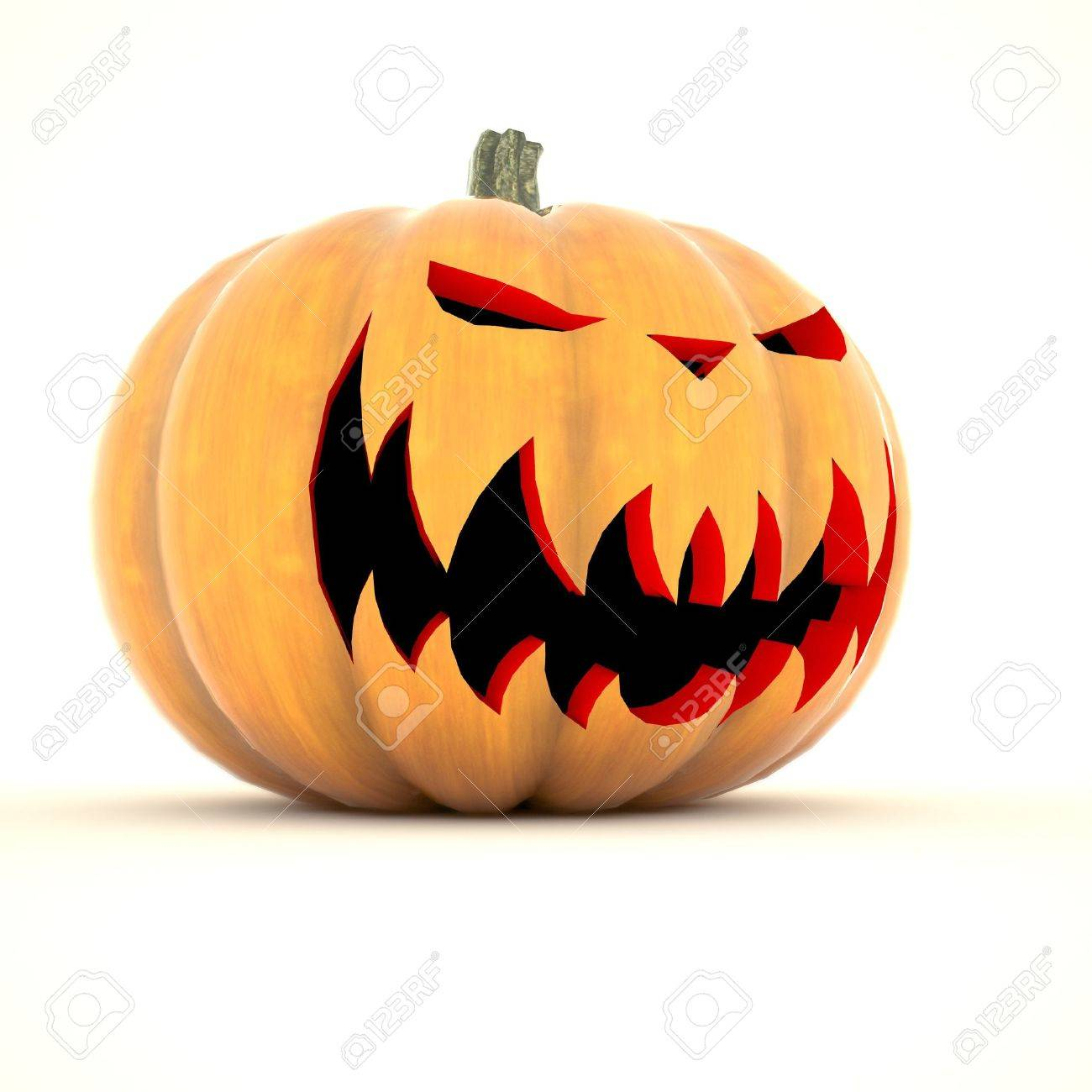 Halloween pumpkin isolated on white background - 15816269