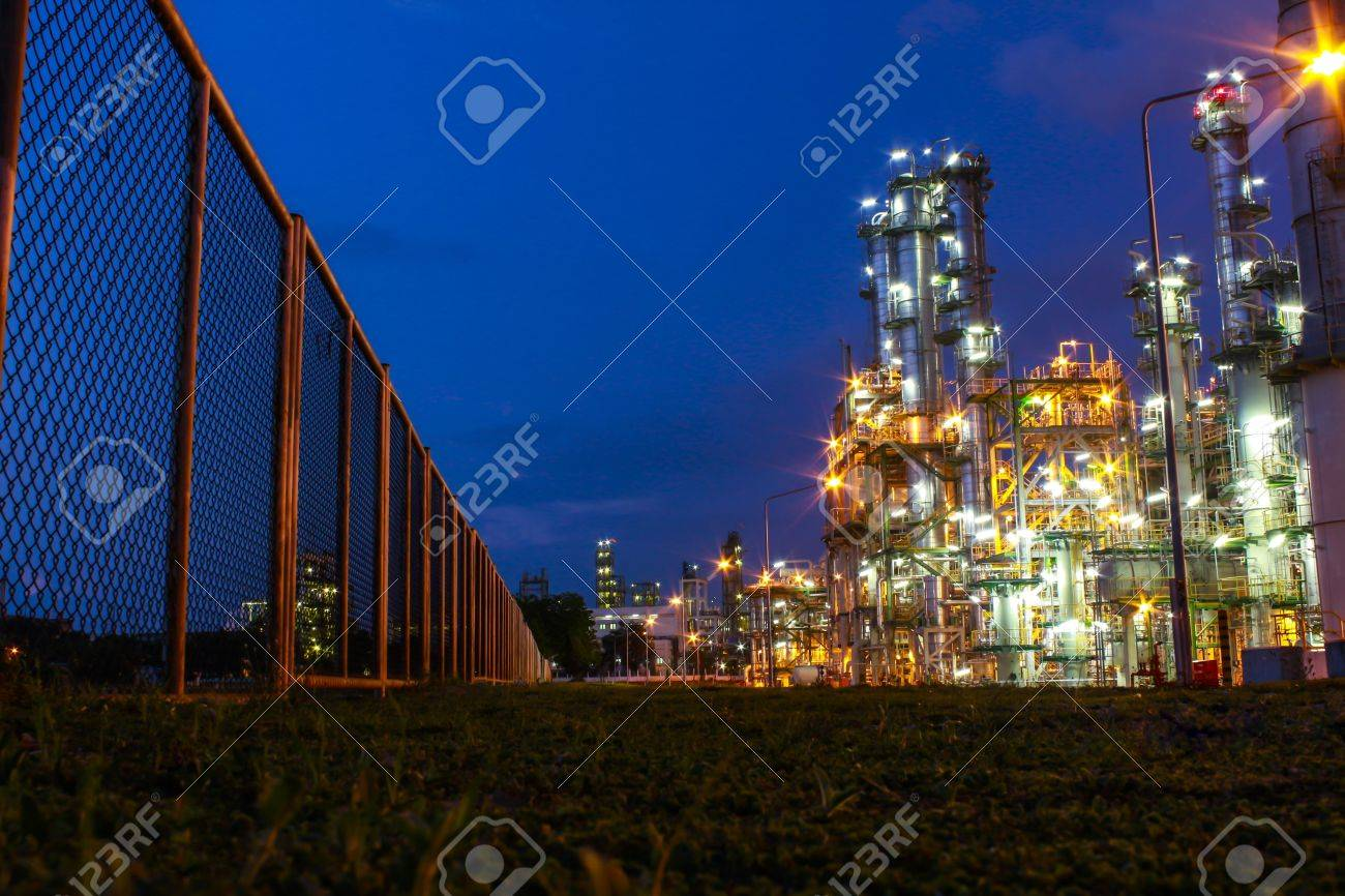 Night scene of chemical plant , Eastern of Thailand - 16348833