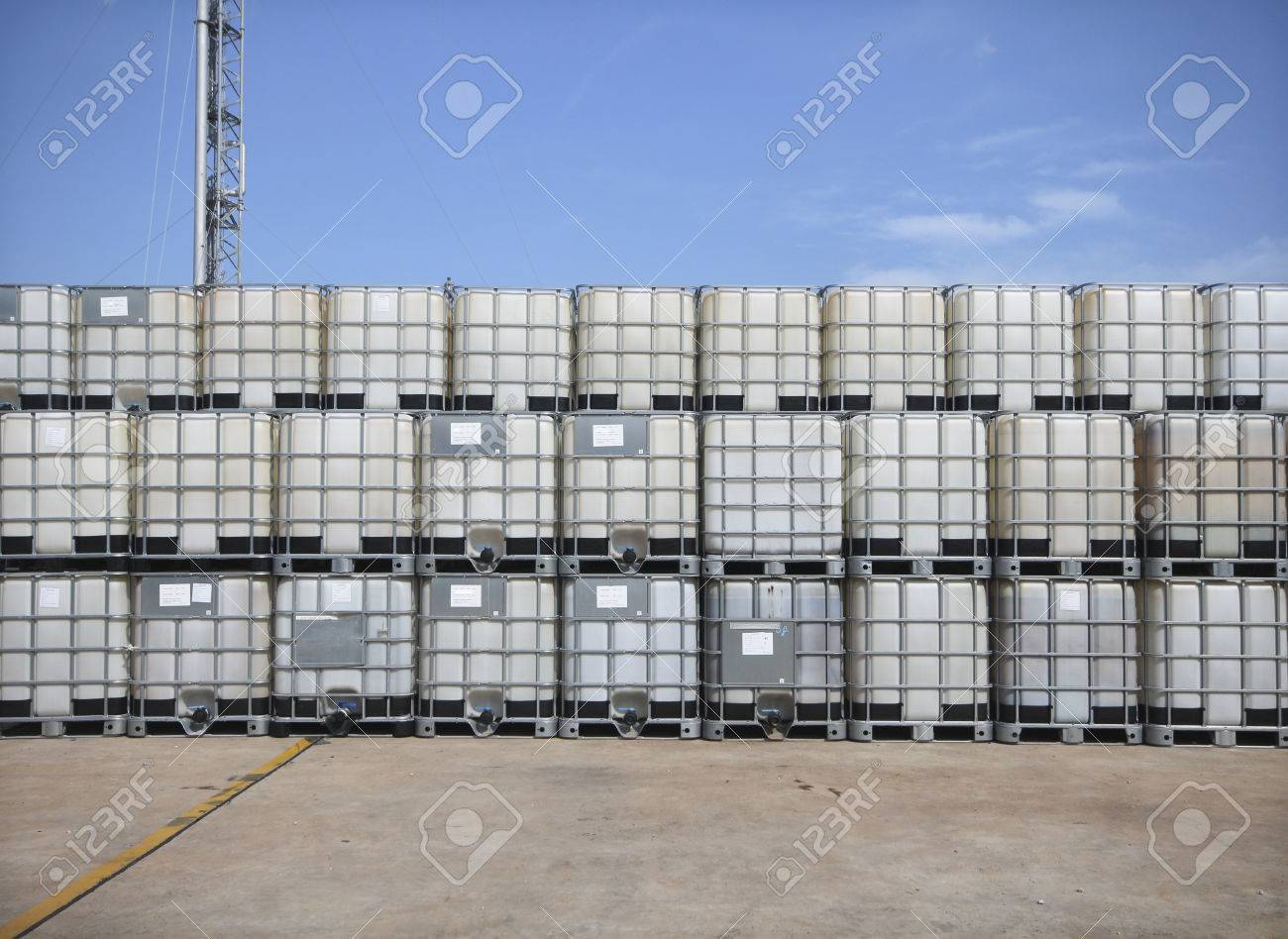 Plastic tank container for keep liquid chemical - 23676307