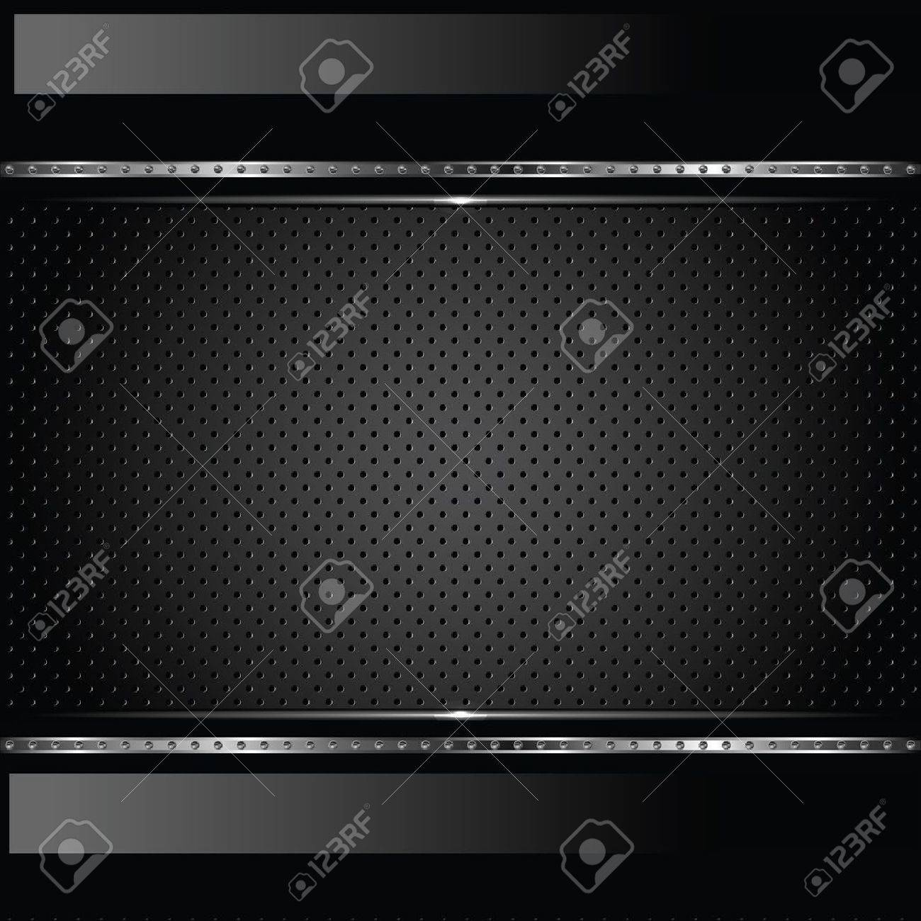 Abstract metal background with bolts Stock Vector - 11651190