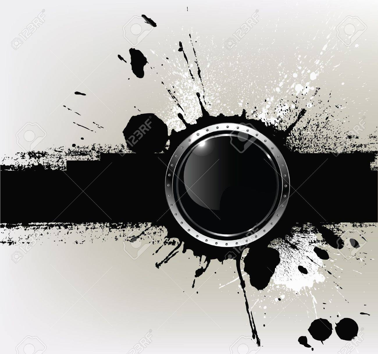 Abstract textured background with a with round glossy banner, vector Stock Vector - 11651203