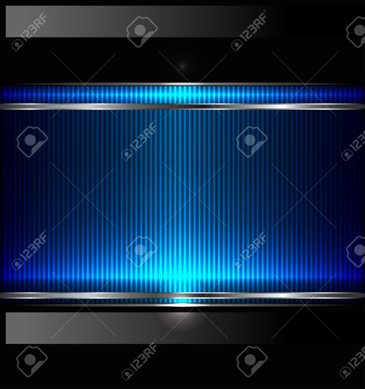 Technology background with metallic banner. Stock Vector - 11651186