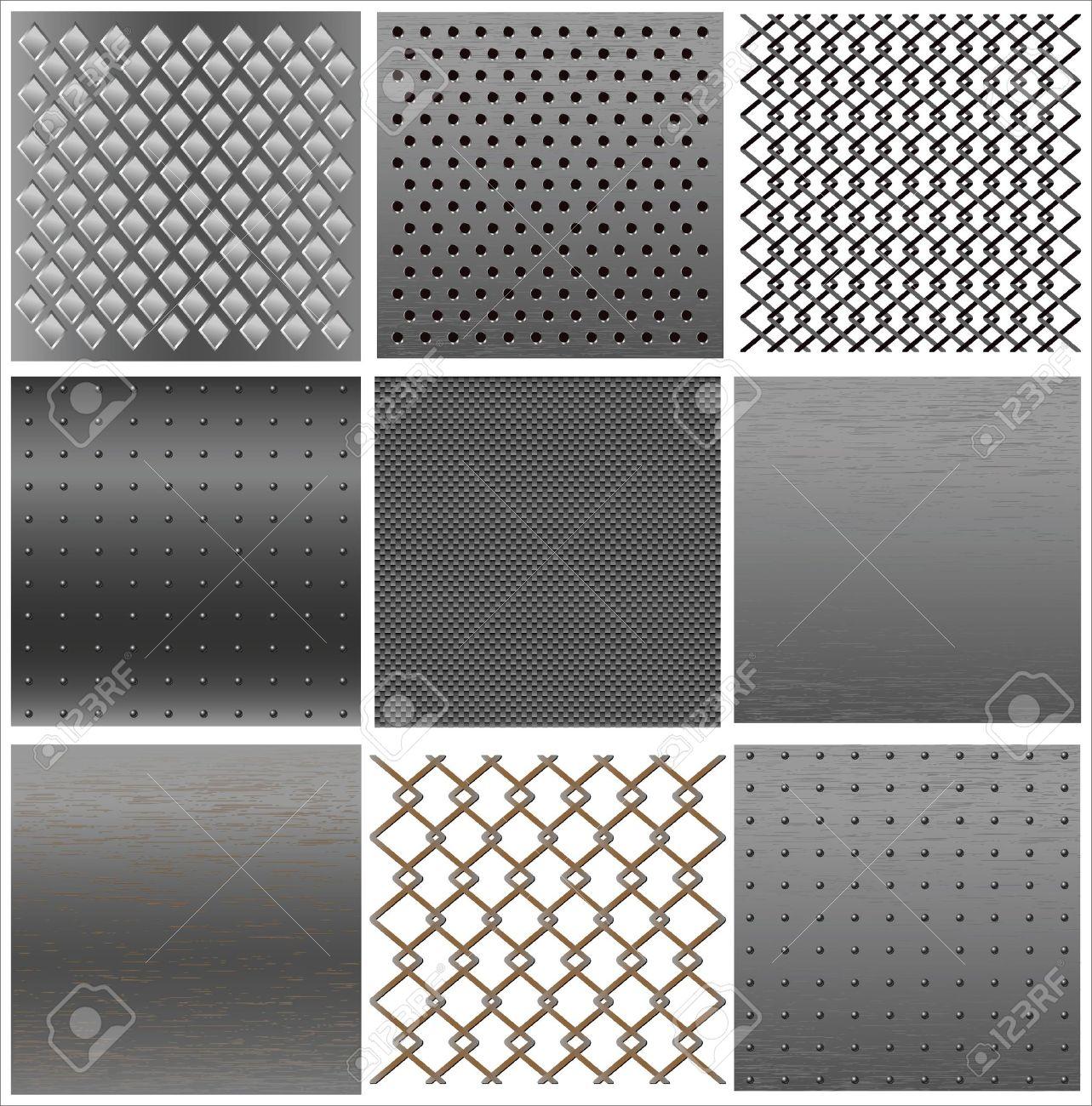 set texture of iron. Stock Vector - 11747281
