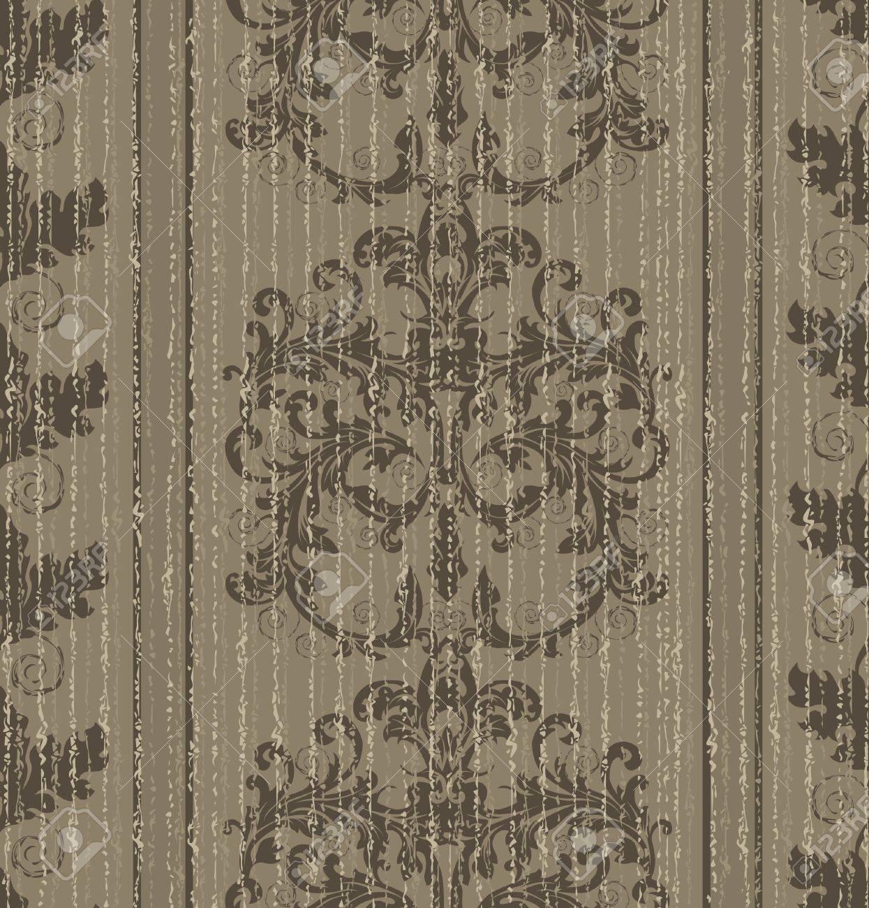 foto de archivo seamless papel tapiz barroco antiguo