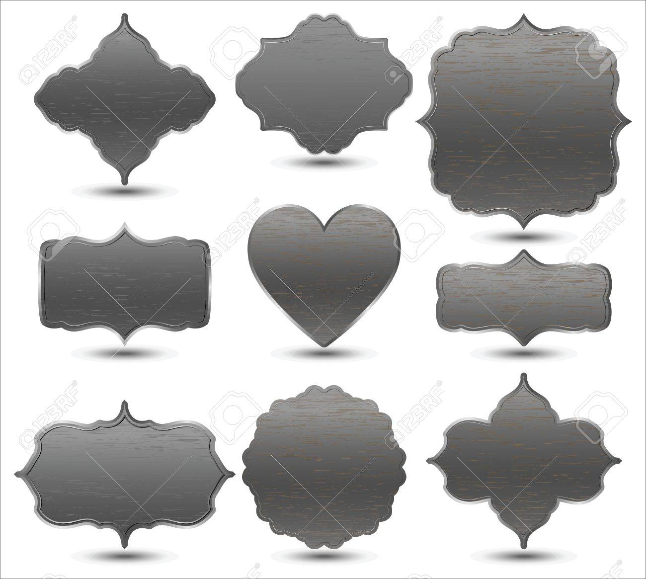 set of metal frames Stock Vector - 12083997