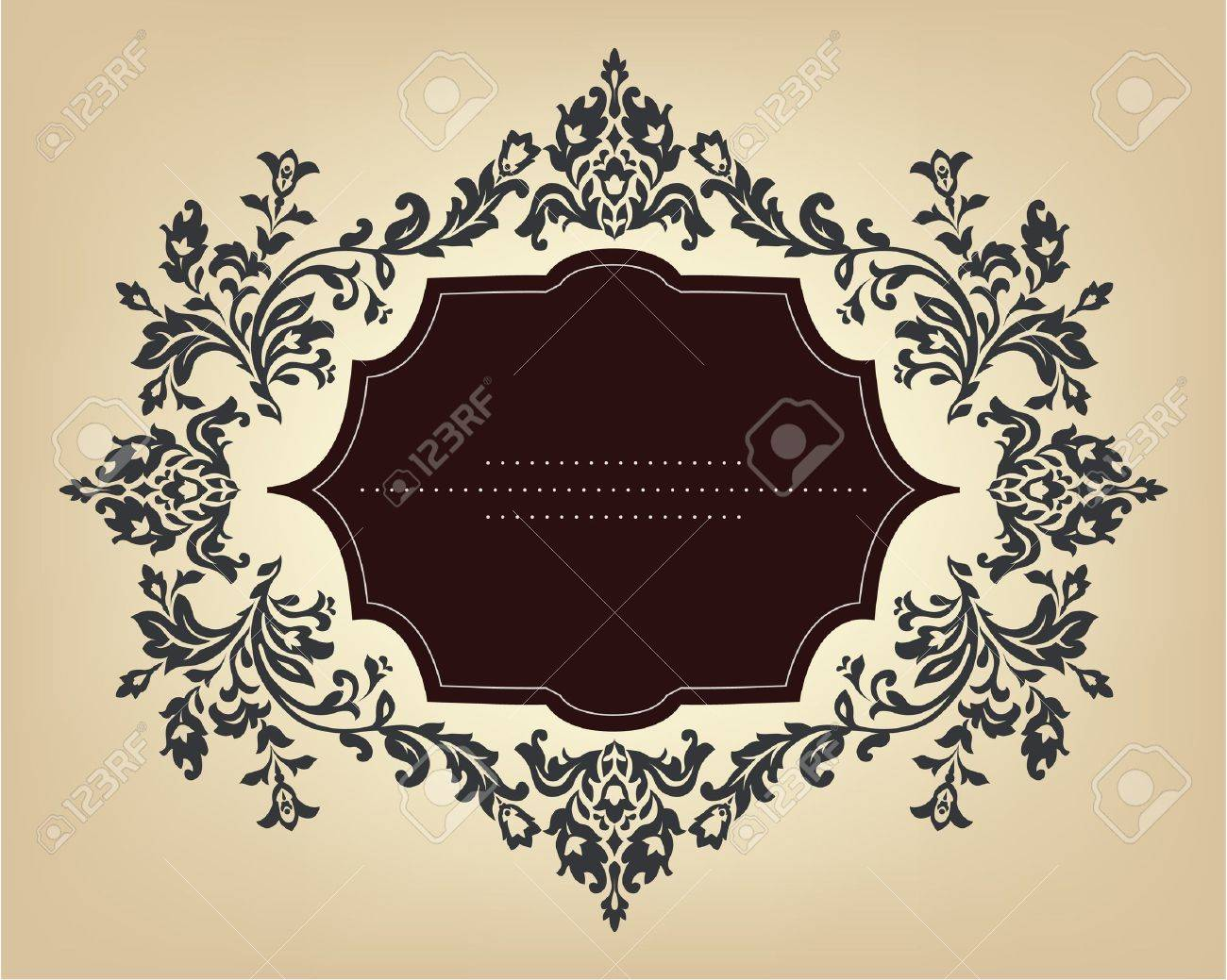 Vintage frame with floral ornament Stock Vector - 12324532