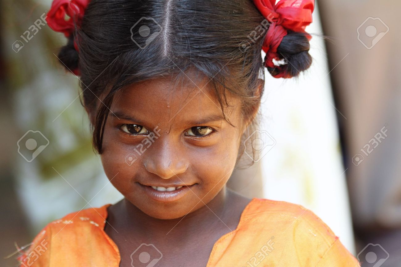 Terrific Smiling Indian Village Girl Stock Photo Picture And Royalty Free Hairstyles For Men Maxibearus