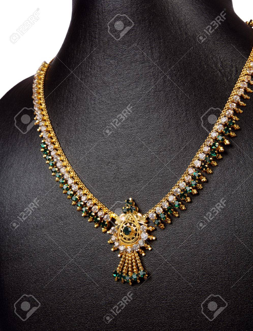 designs jewellery gold indian peacock necklace south