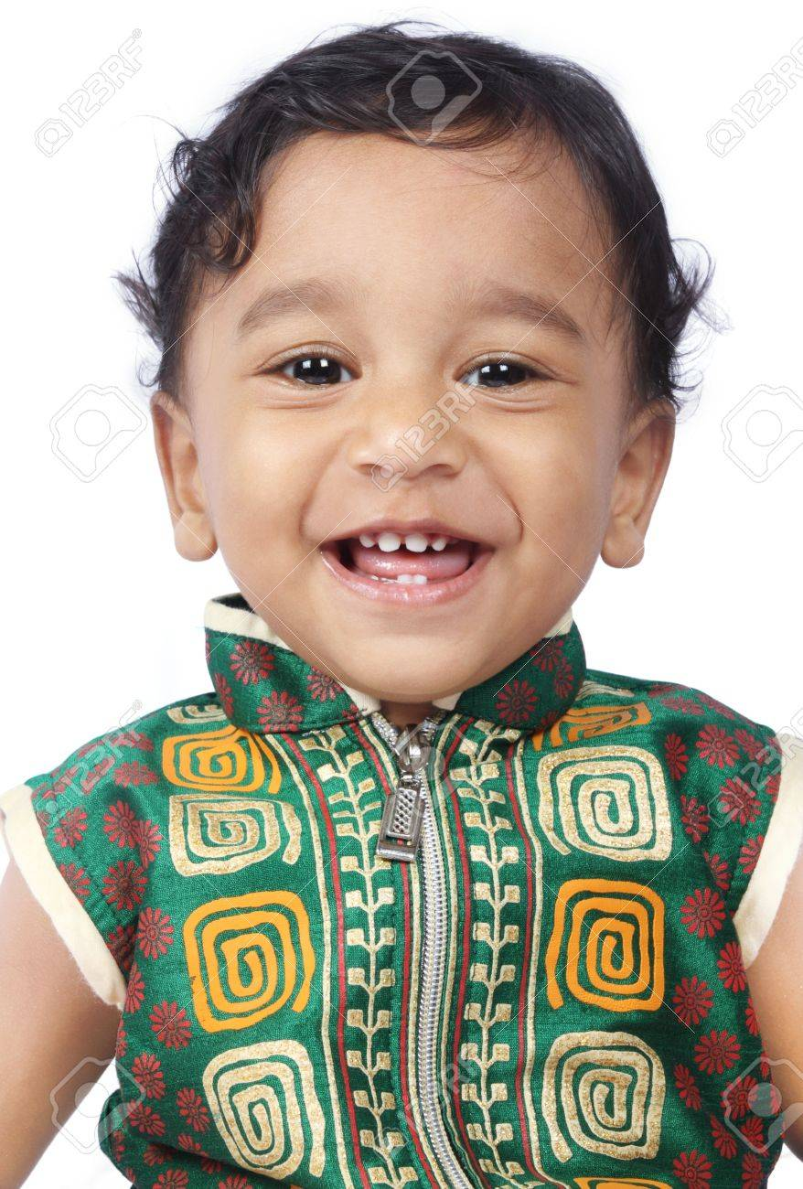 laughing indian cute baby stock photo, picture and royalty free