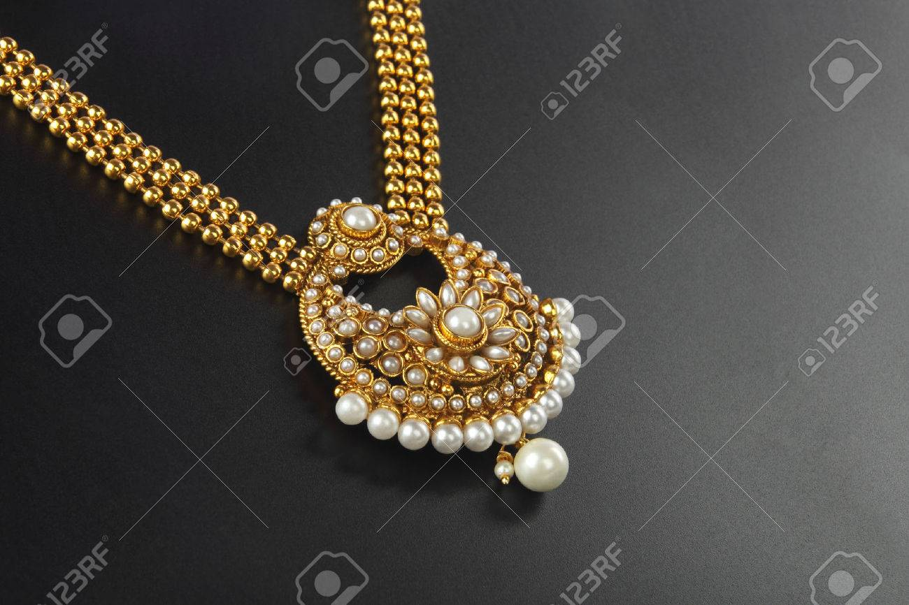Gold Necklace Stock Photos. Royalty Free Business Images
