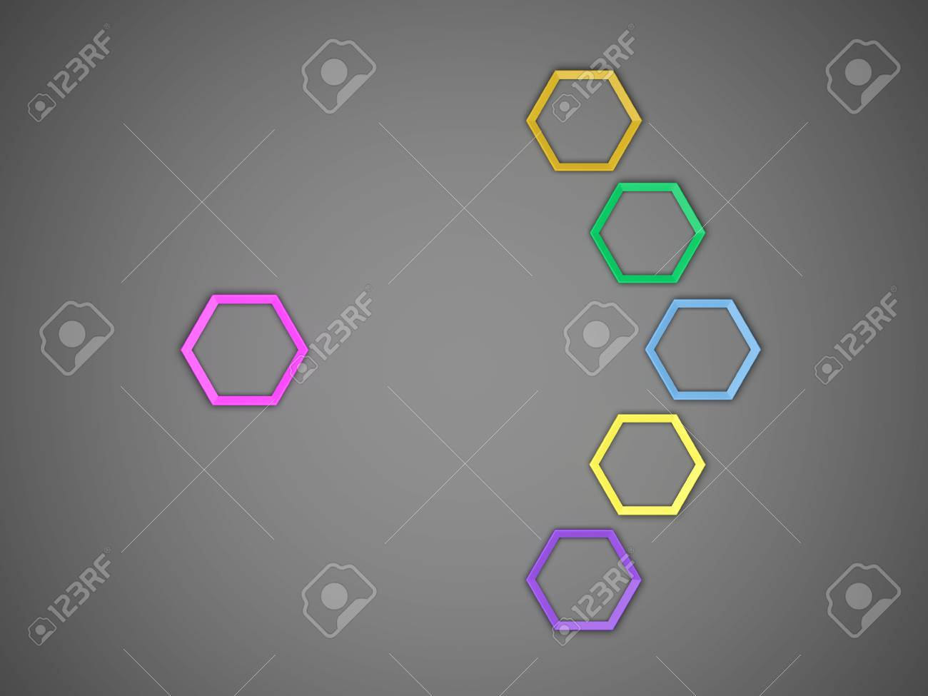 3d octagon template layout for business stock photo picture and