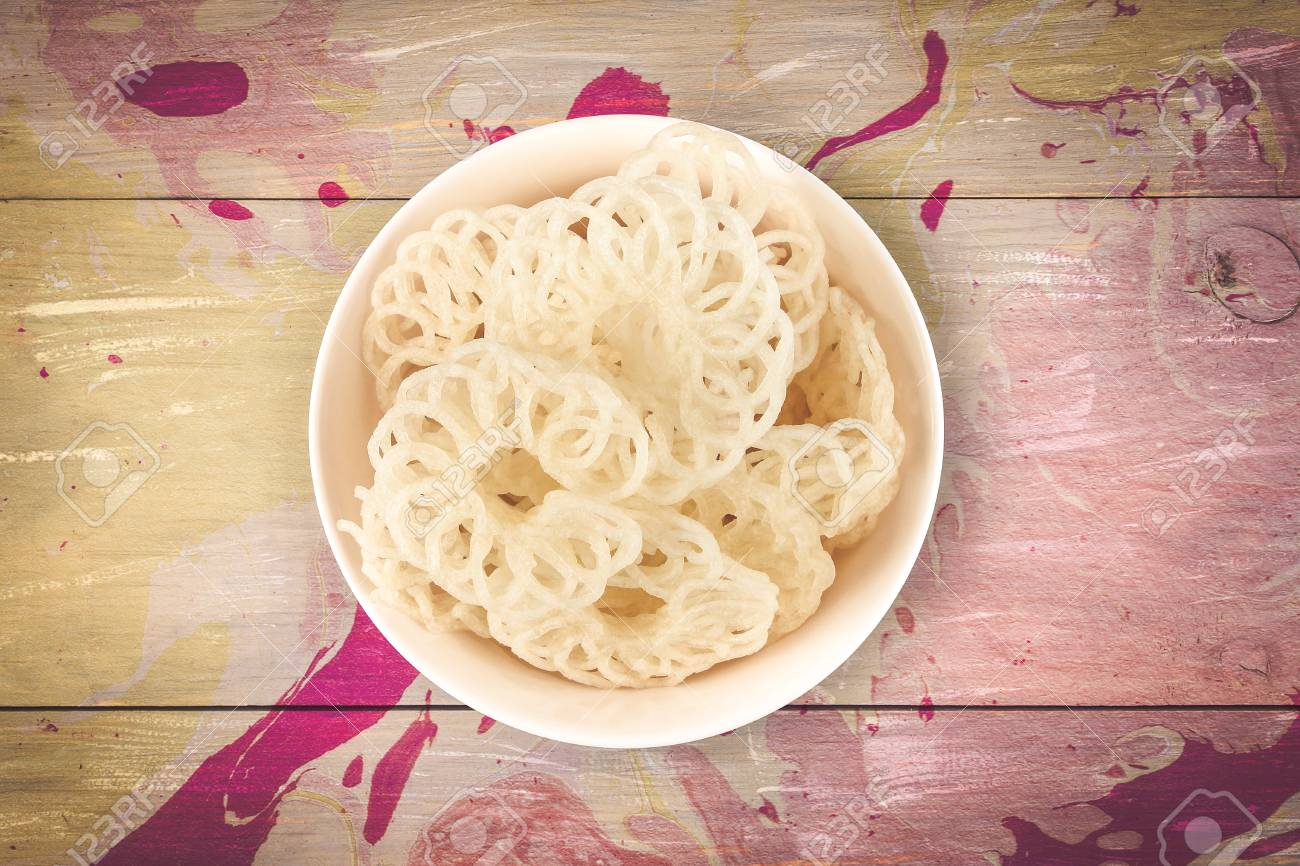 Indian Traditional Food Rice Papad or Vadagam