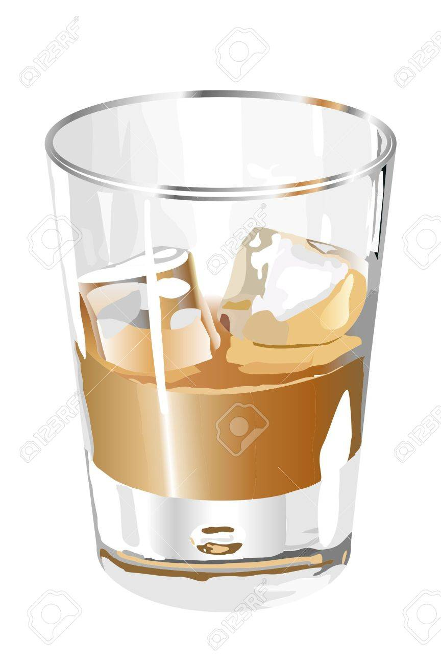 Liquor in the glass Stock Vector - 11350355