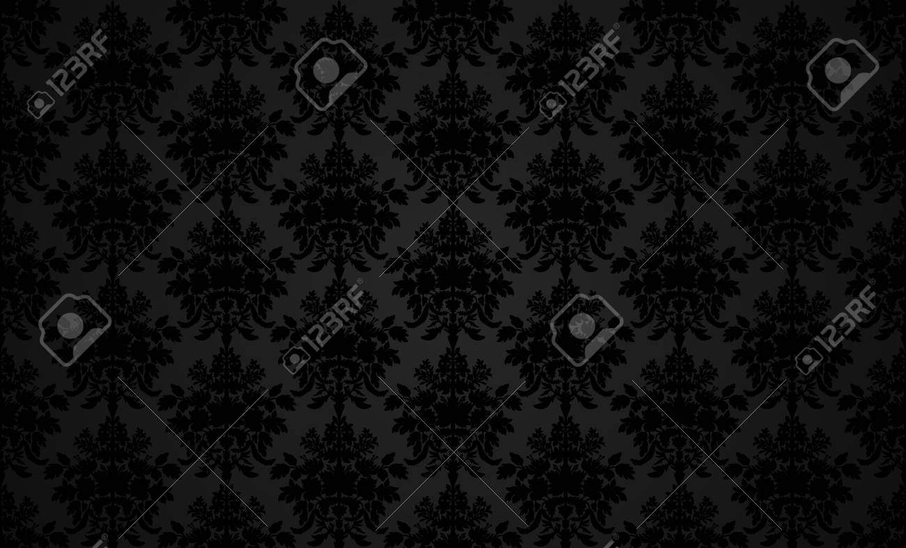 Dark Retro Wallpaper Background In Classic Style Stock Vector